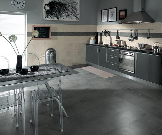 ispirazioni Legno pavimento : Un esempio di pavimento in gres porcellanato effetto legno applicato ...